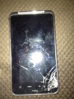 My HTC Inspire Bulletproof glass!