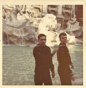 Al and Russ Rome, Italy 1969 Trevia Fountain