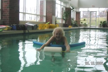No age limit on warm water aquatics!  It helps the body relax and heals the soul.