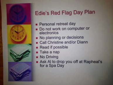 Edie's Red Day Flag Plan