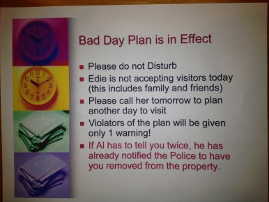 Bad Day Plan is in Effect