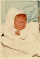 "July 4, 1973 Our Dearest Daughter 9# 3ozs.  23"" (Size matters!)...Always Big Stuff!"